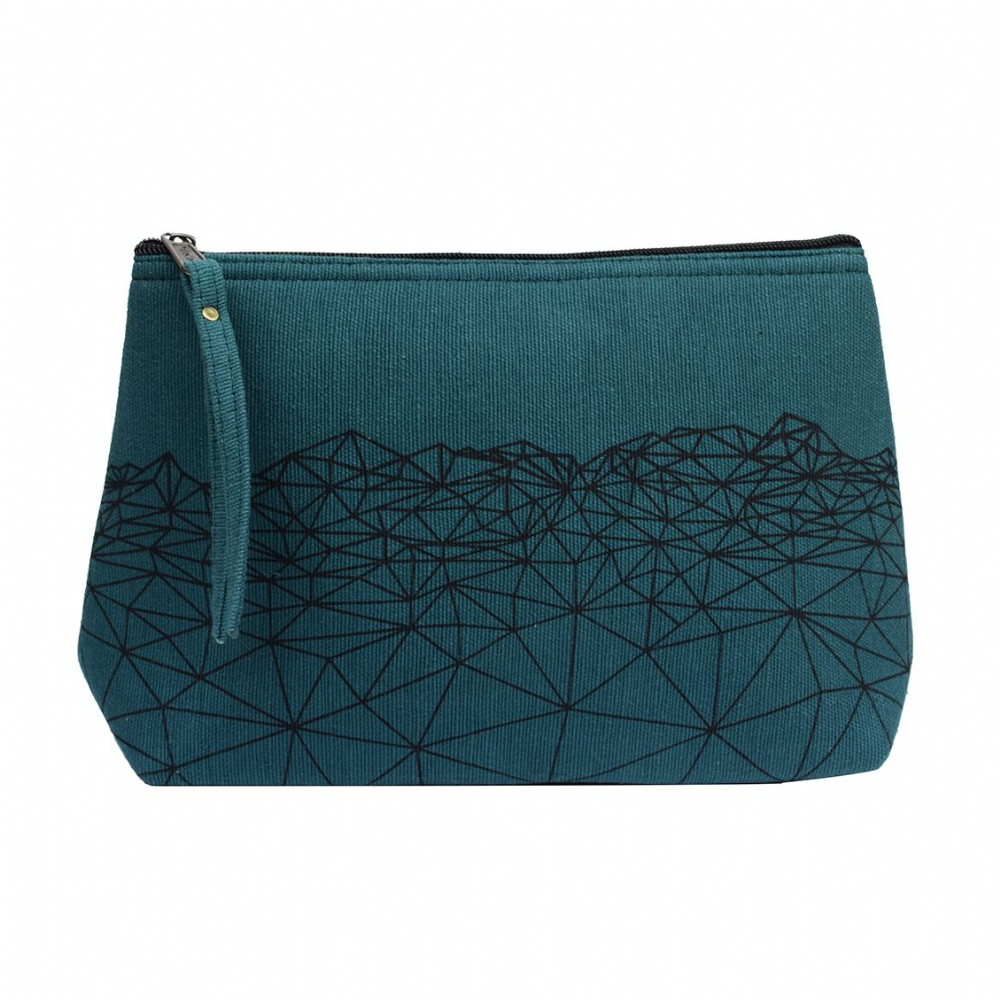 Anka Cotton Wash Bag - Teal Green